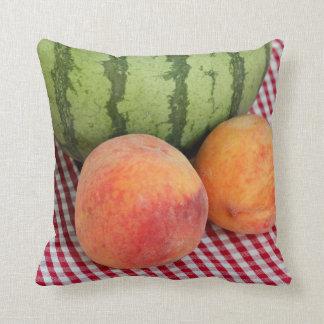 Pfirsich-Kissen der Wassermelone-N zwei Kissen