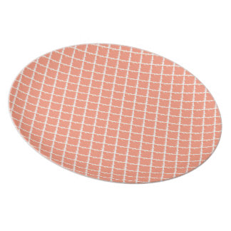 Pfirsich-Krawatten-Muster Party Teller
