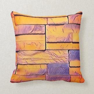 Pfirsich-Lavendel-flippige Schichten Ziegelsteine Kissen