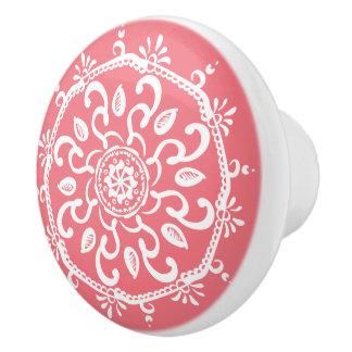 Pfirsich-Mandala Keramikknauf