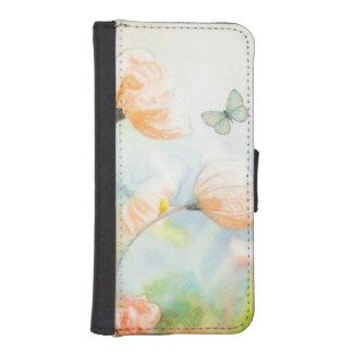 Pfirsich-Mohnblumen-Wiese iPhone SE/5/5s Geldbeutel