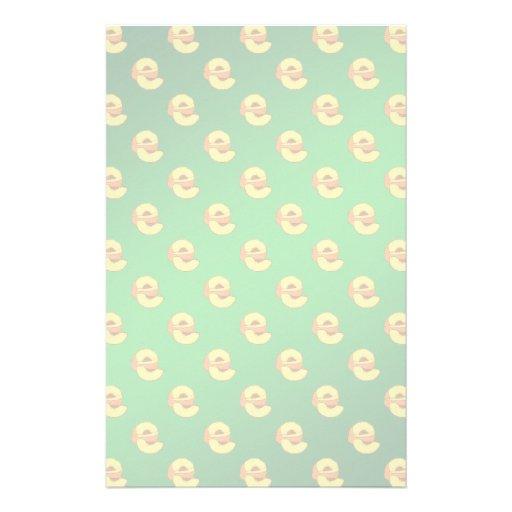 Pfirsich-Muster - grüner Hintergrund Büropapier