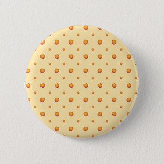Pfirsich-Muster Runder Button 5,7 Cm