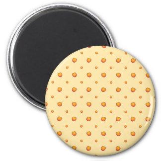Pfirsich-Muster Runder Magnet 5,7 Cm