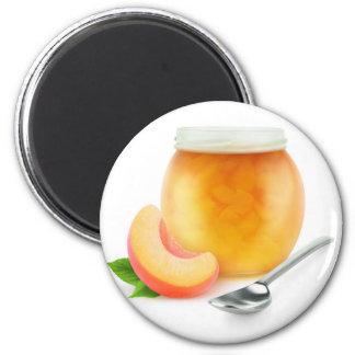 Pfirsich- oder Aprikosenstau Runder Magnet 5,1 Cm