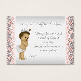 Pfirsich-Prinzessin Diaper Raffle Ticket