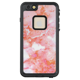 Pfirsich-rosa bewölkter Marmorstein LifeProof FRÄ' iPhone 6/6s Plus Hülle