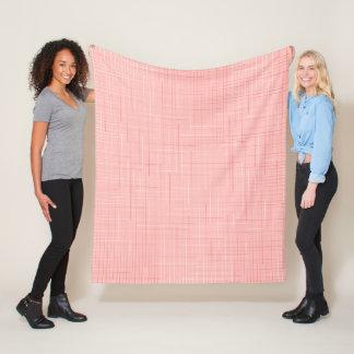 Pfirsich-rosa geometrische Linie Fleecedecke