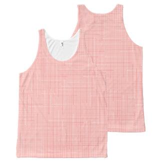 Pfirsich-rosa geometrische Linie Komplett Bedrucktes Tanktop