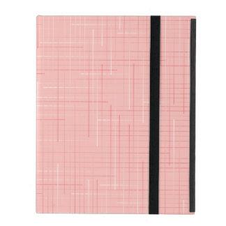 Pfirsich-rosa geometrische Linie Muster-Entwurf iPad Etui