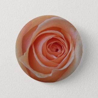 Pfirsich-Rose Runder Button 5,7 Cm