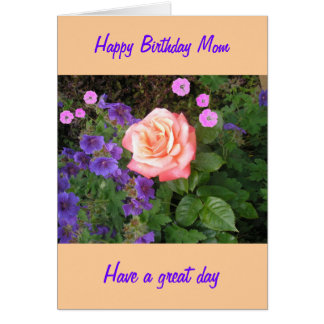 Pfirsich-Rosen-Geburtstags-Mamma Karte