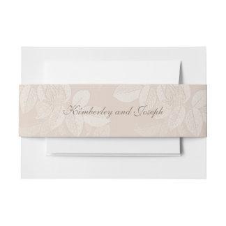 Pfirsich-SahneRosen-Umschlag-Bauch-Bänder Einladungsbanderole