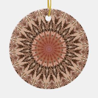 Pfirsich-TAN-Mandala Keramik Ornament