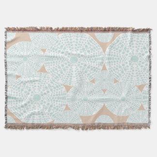 Pfirsich und aquamariner SeeigelThrow Decke