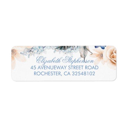 Pfirsich und blaue Blumen-elegante Hochzeit