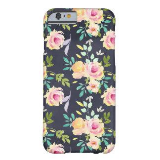 Pfirsich- und Marineblumentelefonkasten Barely There iPhone 6 Hülle