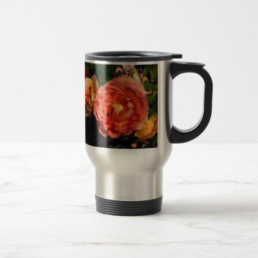 Pfirsich und orange Produkte Tee Haferl