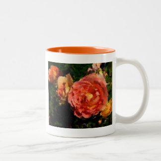 Pfirsich und orange Produkte Zweifarbige Tasse