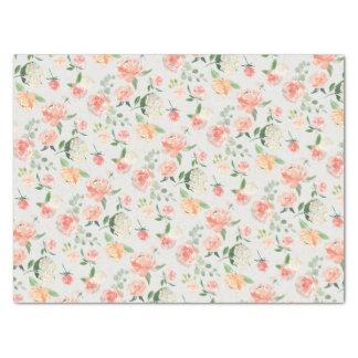 Pfirsich-und Rosa-weibliches Blumenmuster Seidenpapier