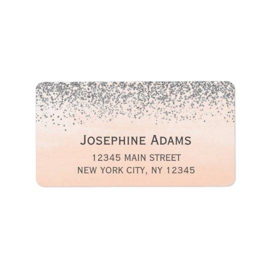 Pfirsich-und Silber-Adressen-Etiketten Adress Aufkleber