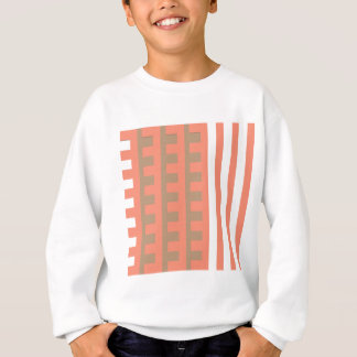 Pfirsich und TAN-Kamm-Zahn Sweatshirt