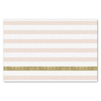 Pfirsich-weißes Goldstreifen Seidenpapier