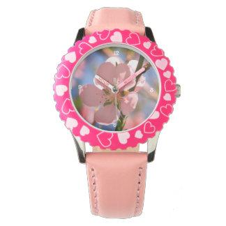 Pfirsichblütenuhr Uhr