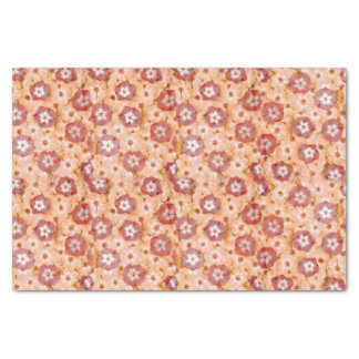 Pfirsichfarbener orange Phloxposies-Garten Seidenpapier
