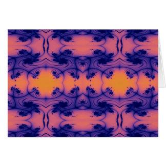 pfirsichfarbenes Fraktal Karte