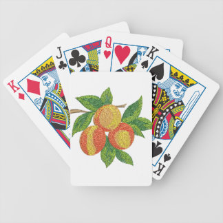 Pfirsichniederlassung, Nachahmung der Stickerei Bicycle Spielkarten