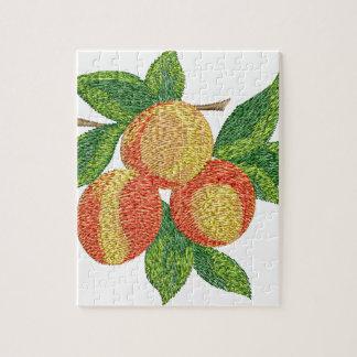 Pfirsichniederlassung, Nachahmung der Stickerei Puzzle