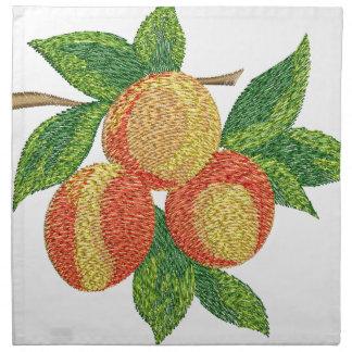 Pfirsichniederlassung, Nachahmung der Stickerei Serviette