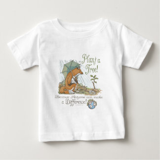Pflanze ein Baum-Erdtagesfox-Gang Baby T-shirt