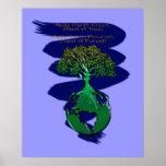 PFLANZE ein WALDkunst-Plakat u. ein Gedicht