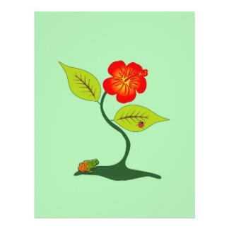 Pflanze und Blume Flyer