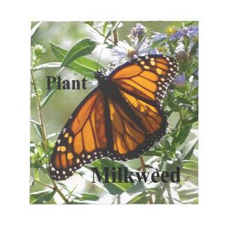 PflanzeMilkweed Notizblock
