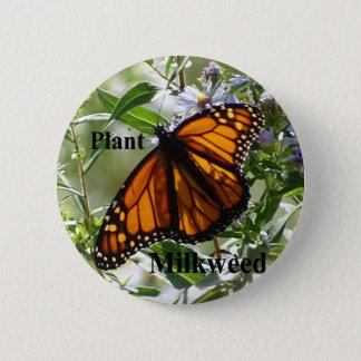 PflanzeMilkweed Runder Button 5,1 Cm