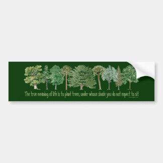 Pflanzen-Bäume - Baum-Liebhaber, Hugger Autoaufkleber