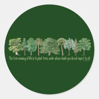 Pflanzen-Bäume - Baum-Liebhaber, Hugger Runder Aufkleber