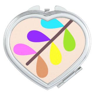 Pflanzen-bunter abstrakter Spiegel für Make-up Schminkspiegel