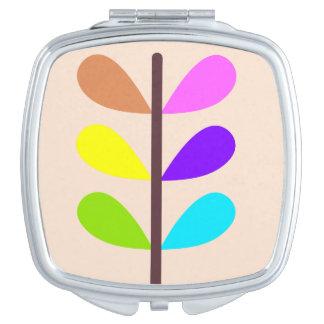 Pflanzen-bunter abstrakter Spiegel für Make-up Taschenspiegel
