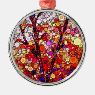 Pflanzen der Kirschbäume Silbernes Ornament