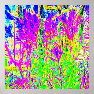 Pflanzen des Graffiti-n: Humber Fluss-Brücke Poster