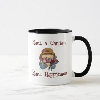 Pflanzen-Glück-Gartenarbeit Tasse