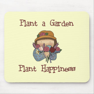Pflanzen-Glück-im Garten arbeitent-shirts und Gesc Mousepad