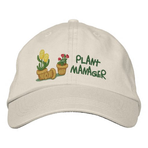 Pflanzen-Manager Bestickte Baseballcaps