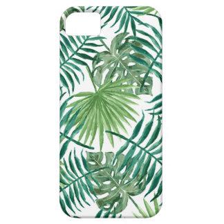 Pflanzen-tropisches botanisches Palmblatt iPhone 5 Etuis