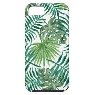Pflanzen-tropisches botanisches Palmblatt iPhone 5 Hülle