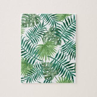 Pflanzen-tropisches botanisches Palmblatt Puzzle
